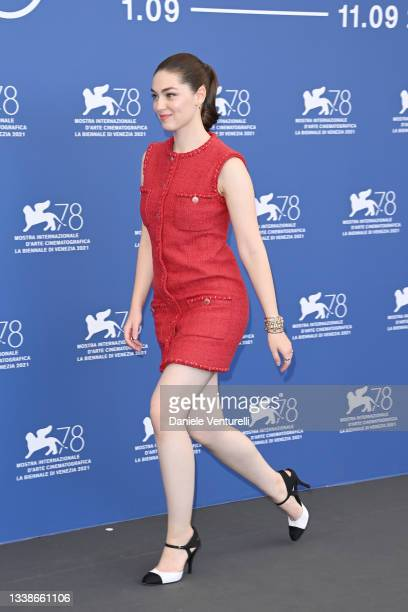 """Anamaria Vartolomei attends the photocall of """"L'Evenement"""" during the 78th Venice International Film Festival on September 06, 2021 in Venice, Italy."""