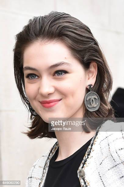 Anamaria Vartolomei is seen arriving at Chanel fashion show during the Paris Fashion Week Womenswear Fall/Winter 2017/2018 on March 7 2017 in Paris...