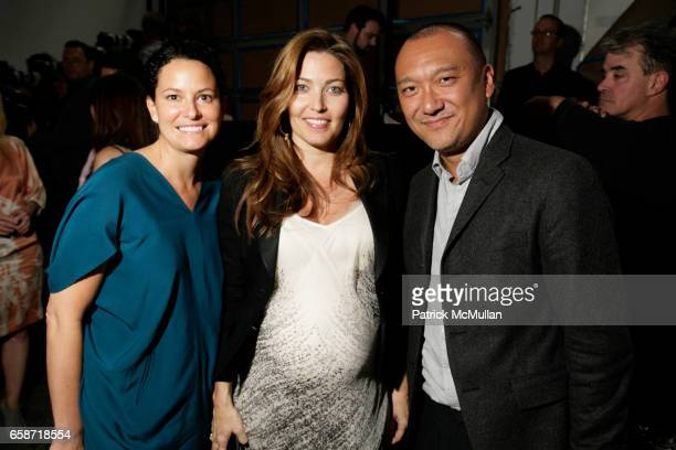 Anamaria Wilson Alixe Boyer and Joe Zee attend DIANE VON FURSTENBERG Resort Collection 2009 at DVF Headquarters on June 3 2009 in New York