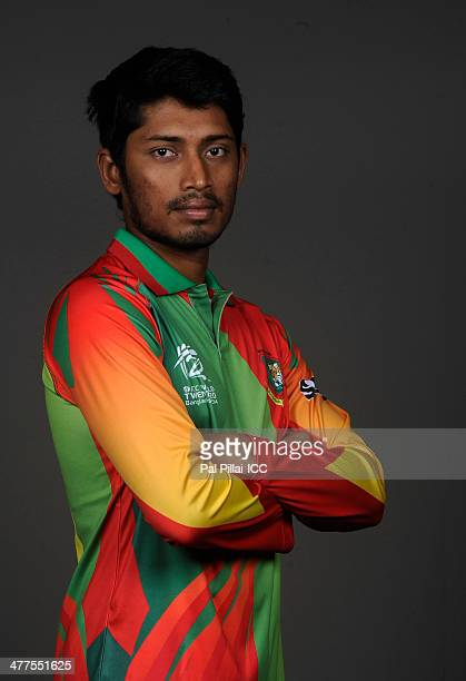Anamul Haque of Bangladesh poses for a picture during a headshot session ahead of the ICC T20 World cup on March 10 2014 in Dhaka Bangladesh