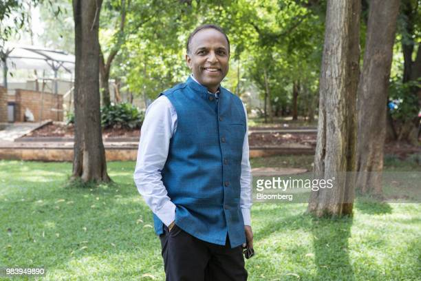 Anand Anandkumar, co-founder and chief executive officer of Bugworks Research India Ltd., stands for a photograph in Bengaluru, India, on Thursday,...