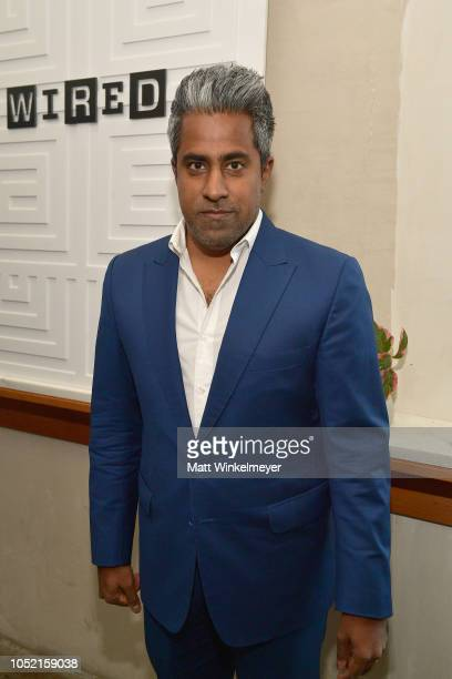 Anand Giridharadasattends VIP Dinner For WIRED's 25th Anniversary Hosted By Nicholas Thompson And Anna Wintour at Tartine Manufactory on October 14...