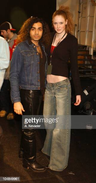 Anand Jon and Alise Shoemaker during MercedesBenz Fall Fashion Week 2003 Collections Anand Jon Backstage at Bryant Park in New York New York United...
