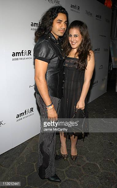 Anand Jon and Jaime Gleicher during 13th Annual amfAR Boathouse Rocks Benefit at Tavern on the Green at Tavern On The Green in New York City New York...