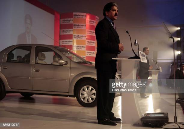 Anand Mahindra Vice Chairman and MD Mahindra Mahindra at the launch of Logan in Mumbai on Tuesday The midsize sedan has been launched by...