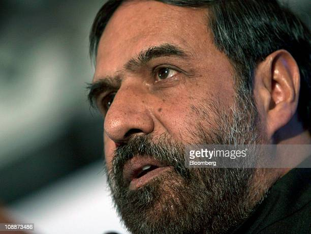 Anand Sharma India's minister of commerce and industry speaks during a Confederation of Indian Industry conference on Unlocking the Potential of...