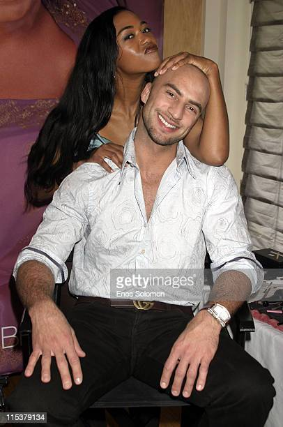 Ananda Lewis and Danny Teeson during Lane Bryant's Hollywood Suite and Retreat at Celebrity Spa in Beverly Hills California United States