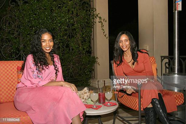 Ananda Lewis and friend Hope during Frida Kahlo Tequila Launch November 15 2005 at Michael Scott Estate in Los Angeles California United States