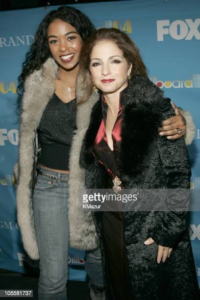 Ananda Lewis and Gloria Estefan during 2004 Billboard Music Awards Red Carpet at MGM Grand Garden in Las Vegas Nevada United States