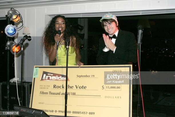 Ananda Lewis and Jason Ritter for Rock The Vote during Entertainment Tonight Emmy Party Sponsored by People Magazine Inside at The Mondrian in West...