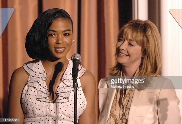 Ananda Lewis and Sharon Lawrence during The 11th Annual PRISM Awards Award Ceremony at Beverly Hills Hotel in Beverly Hills California United States