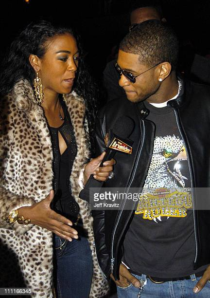 Ananda Lewis and Usher during VH1 Big in '04 Red Carpet at Shrine Auditorium in Los Angeles California United States