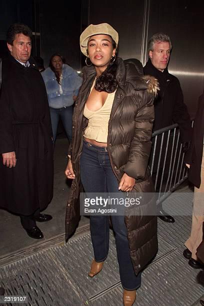 Ananda Lewis arrives at a Vibe Magazine record release party for April cover model Brandy at Blue Fin at the W Hotel in New York City Mar 4 2002...