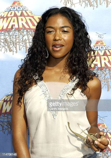 Ananda Lewis during 2005 MTV Movie Awards Arrivals at Shrine Auditorium in Los Angeles California United States