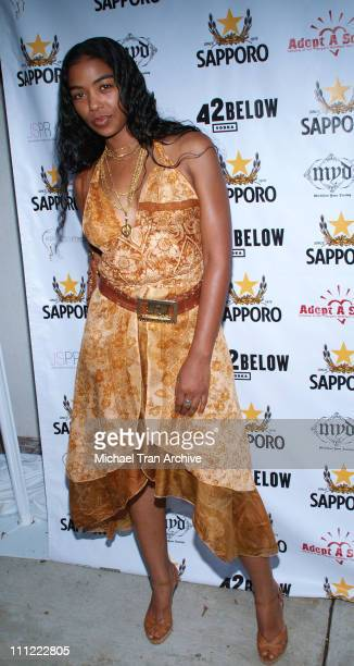Ananda Lewis during Sapporo 42 Below Presents Jaime Pressly and Hill Harper's AdoptASchool Initiative at RJ Cutler's Estate in Los Angeles California...