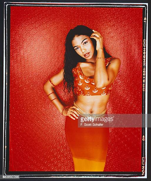 VJ Ananda Lewis is photographed for React Magazine in 2000