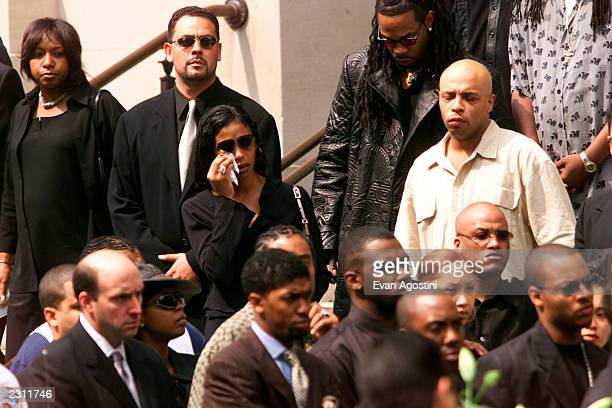 Ananda Lewis leaving R B singer Aaliyah's memorial service at St Ignatius Loyola Roman Catholic Church in New York City 8/31/2001 Photo Evan...