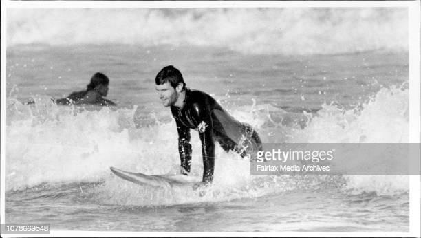 Ananda Marga sect member Paul Alister at Bondi Beach this week May 18 1985