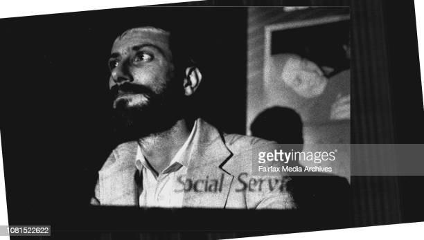 Ananda Marga spokesman Michael Andrews at the press call today October 27 1990