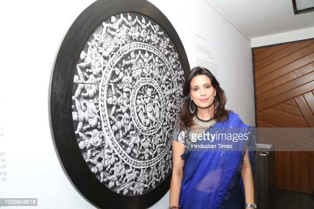 Ananda Moy Banerji during an art show exhibition titled Monumental Terracotta showcases archival photographs by Sanjay Das and terracotta...