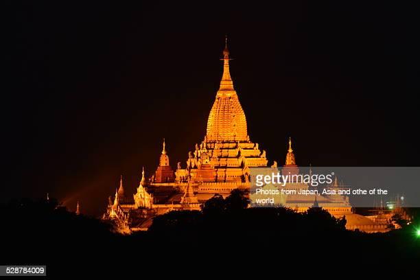 Ananda Temple at night, Bagan, Myanmar