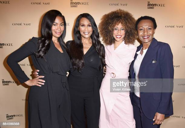 Anansa Sims Beverly Johnson Elaine Welteroth and Debra Welteroth attend The Teen Vogue Summit LA Keynote Conversation with A Wrinkle In Time director...