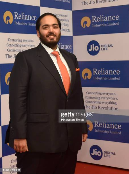 Anant Ambani arrives to attend the 42nd Reliance AGM at Birla Matushri Marine Lines on August 12 2019 in Mumbai India Reliance Industries unveiled...