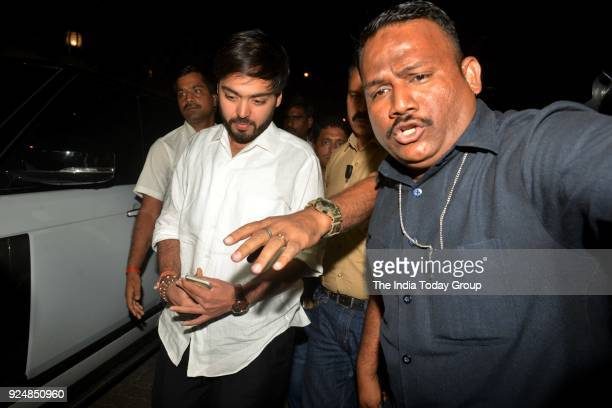 Anant Ambani at Anil Kapoor's House in Mumbai