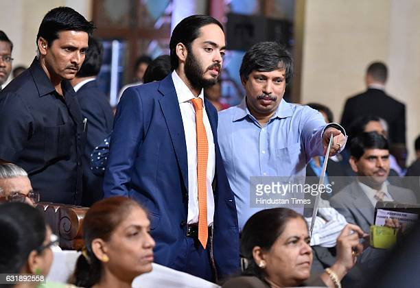 Anant Ambani son of Mukesh Ambani MD of Reliance Industries during the procession of the 160th annual Convocation of Mumbai University at Cowasji...