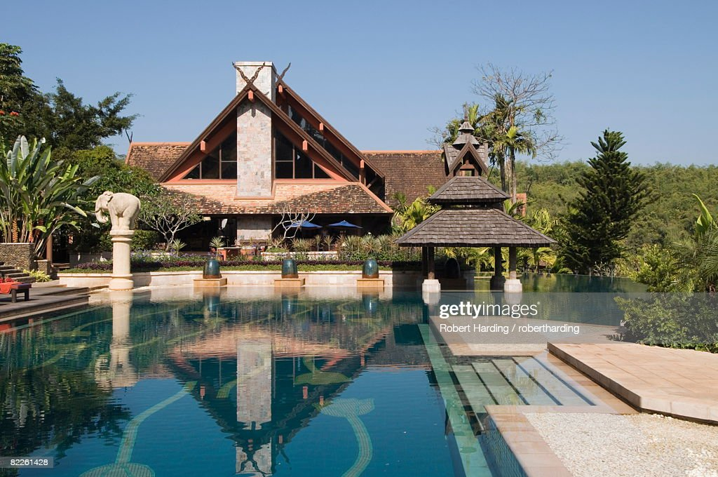 Anantara Golden Triangle Resort, Sop Ruak, Golden Triangle, Thailand, Southeast Asia, Asia : Stock Photo