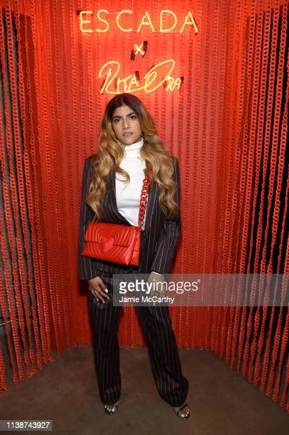 Ananya Birla attends the launch of the ESCADA Heartbag by Rita Ora on March 27 2019 in New York City