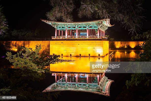 CONTENT] Anapji or Anap Pond is an artificial pond in Gyeongju National Park South Korea It was part of the palace complex of ancient Silla It was...