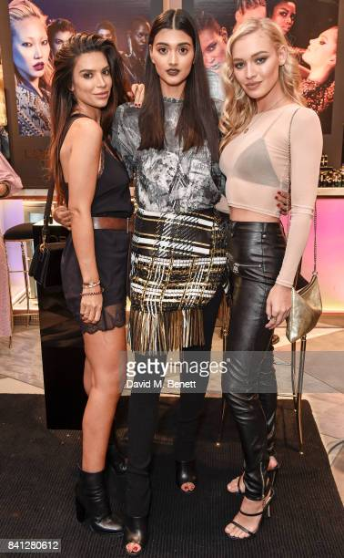 Anara Atanes Neelam Gill and Roxy Horner attend the launch of the L'Oreal Paris x Balmain Paris collection lipstick at Harvey Nichols on August 31...