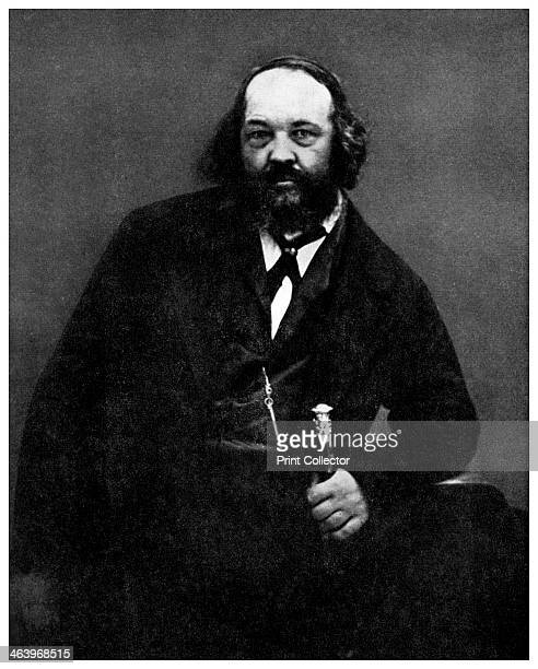 Mikhail Bakunin, Russian anarchist, 19th century . Bakunin was the leading proponent of the doctrine of Collectivist Anarchism. From the Picture Post...