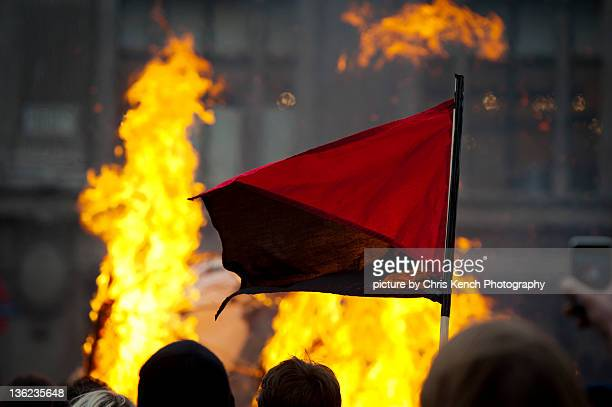 Anarchist flag - march for alternative