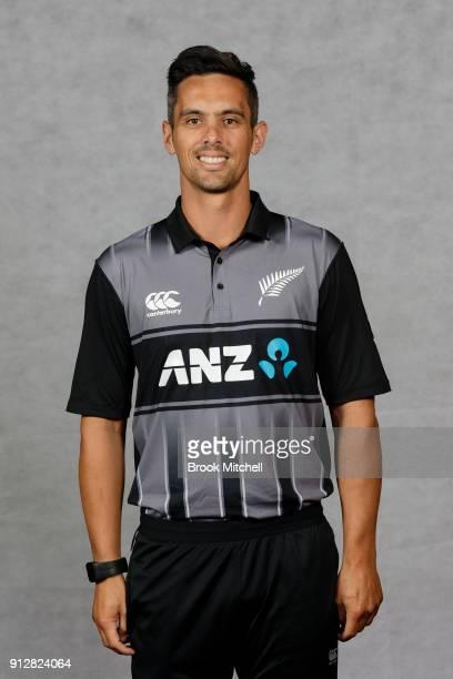 Anaru Kitchen poses during the New Zealand International Twenty20 headshots session at Sydney Cricket Ground on February 1 2018 in Sydney Australia