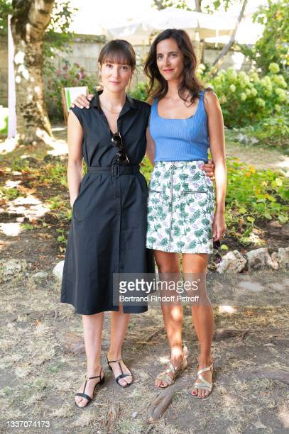 """Anaïs Demoustier and Charline Bourgeois-Tacquet attend the """"Les amours d'Anaïs"""" movie Photocall during the 14th Angouleme French-Speaking Film..."""