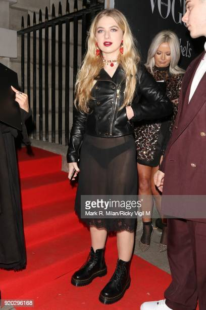 Anaïs Gallagher seen at the Vogue and Tiffany Co party at Annabel's club after attending the EE British Academy Film Awards at the Royal Albert Hall...
