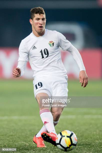 Anas Hammad of Jordan in action during the AFC U23 Championship China 2018 Group C match between Malaysia and Jordan at Changshu Sports Center on 13...