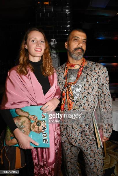 Anas Silvestro and Karim Bonnet attend the Facade Magazine Dinner at VIP Room on July 2, 2017 in Paris, France.