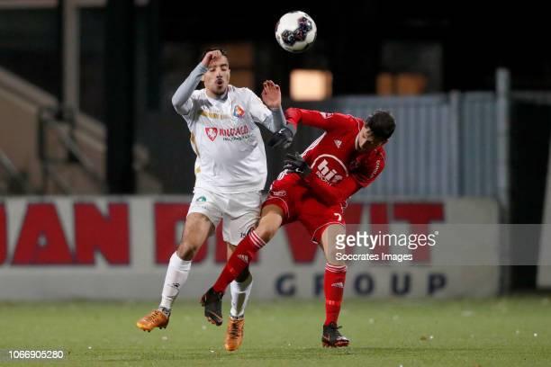 Anass Najah of Telstar Anass Ahannach of Almere City during the Dutch Keuken Kampioen Divisie match between Telstar v Almere City at the Rabobank...