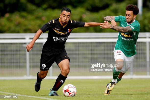 Anass Najah of Telstar Brandon Ormonde Ottewille of FC Dordrecht during the Club Friendly match between Telstar v FC Dordrecht at the Sportpark...