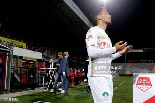 Anass Najah of Telstar during the Dutch Keuken Kampioen Divisie match between Helmond Sport v Telstar at the Lavans Stadium on October 12 2018 in...