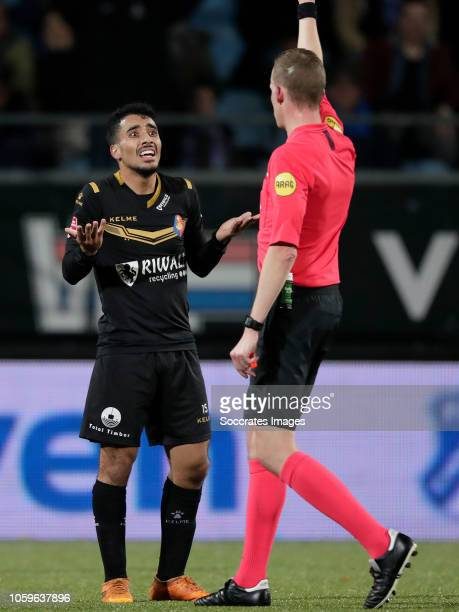 Anass Najah of Telstar during the Dutch Keuken Kampioen Divisie match between FC Eindhoven v Telstar at the Jan Louwers Stadium on November 9 2018 in...