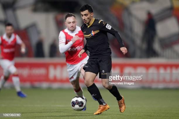 Anass Najah of Telstar during the Dutch Keuken Kampioen Divisie match between MVV Maastricht v Telstar at the Geusselt on February 1 2019 in...
