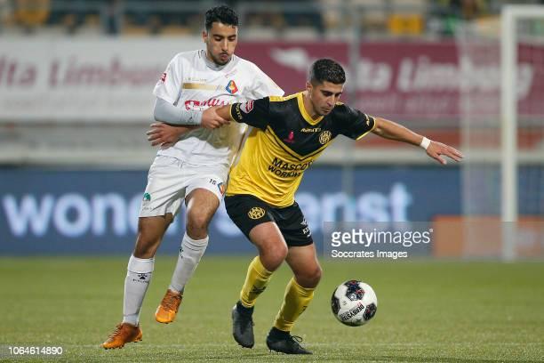 Anass Najah of Telstar Mohamed el Makrini of Roda JC during the Dutch Keuken Kampioen Divisie match between Roda JC v Telstar at the Parkstad Limburg...