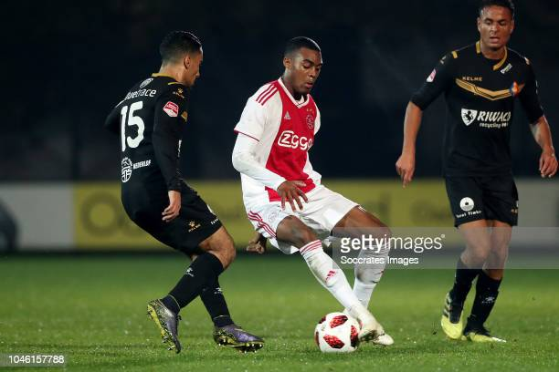 Anass Najah of Telstar Ryan Gravenberch of Ajax U23 during the Dutch Keuken Kampioen Divisie match between Ajax U23 v Telstar at the De Toekomst on...