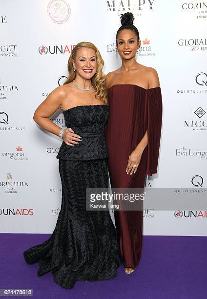 Anastacia and Alesha Dixon attend the Global Gift Gala in partnership with Quintessentially on November 19 2016 at the Corithinia Hotel in London...