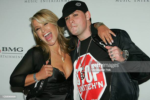 Anastacia and Benji Madden of Good Charlotte during 2006 Sony/BMG GRAMMY After Party at Roosevelt Hotel in Hollywood California United States