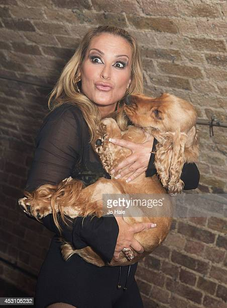 Anastacia and Jacob pose backstage at GAY on August 2 2014 in London England